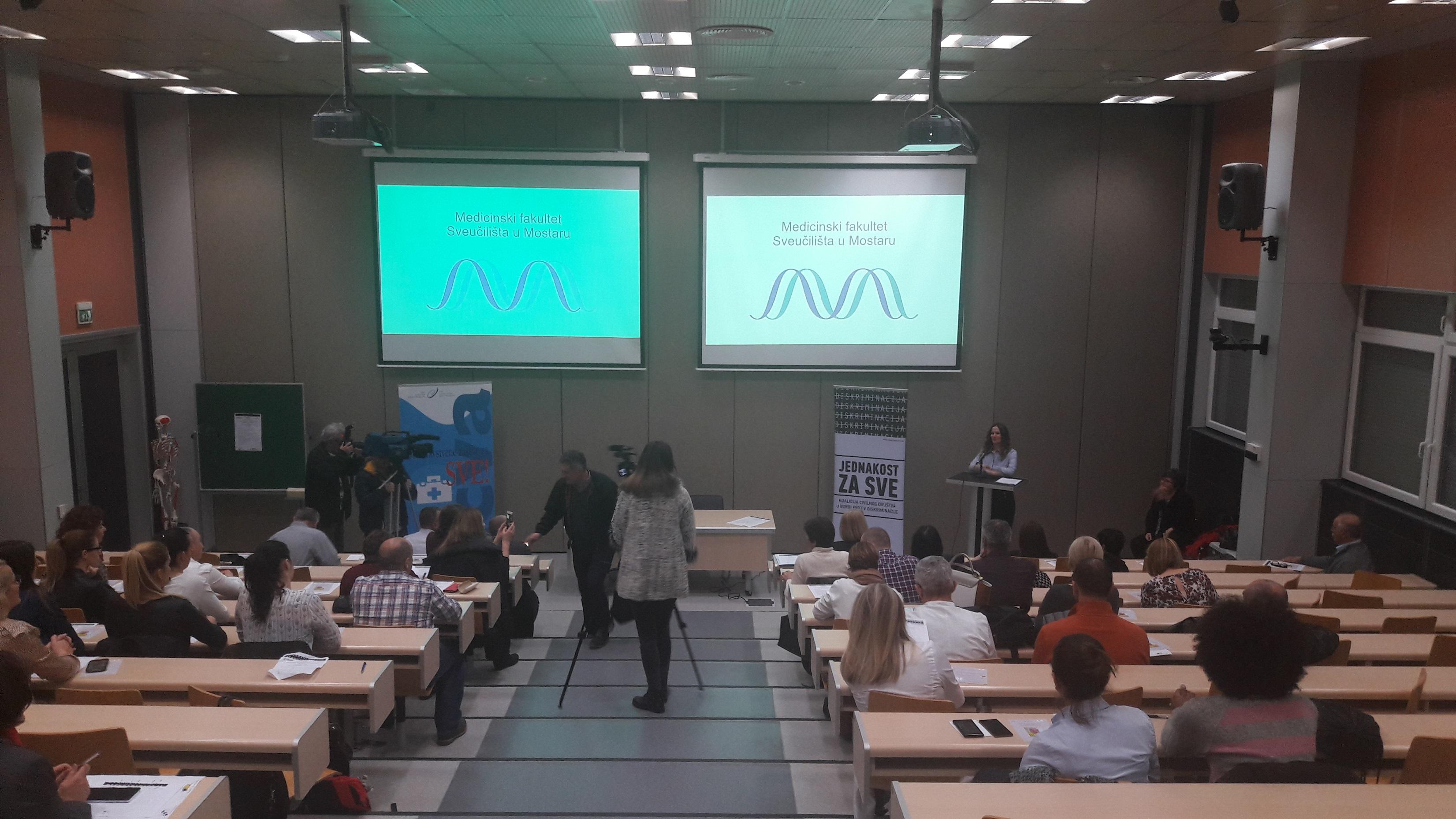 """Diskusija na temu """"Uspostava sustava redovite stomatološke usluge za osobe s invaliditetom"""" Mostar 23. 02. 2017"""