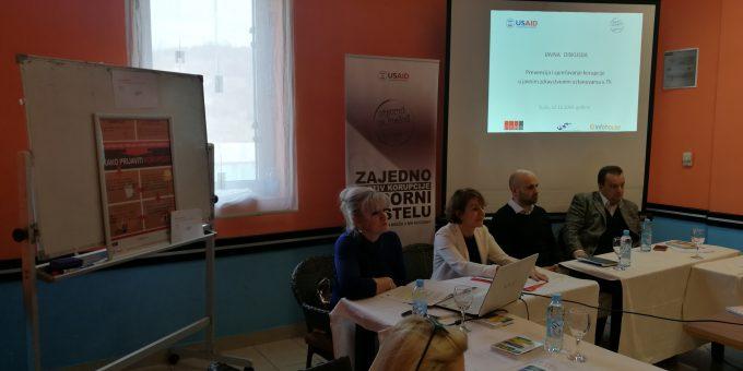 Zagovaranje uvođenja efikasnog modela za borbu protiv korupcije u zdravstvenim ustanovama u Kantonu Tuzla