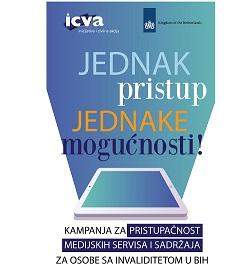Kampanja za pristupačnost medijskih servisa i sadržaja za osobe sa invaliditetom u BiH