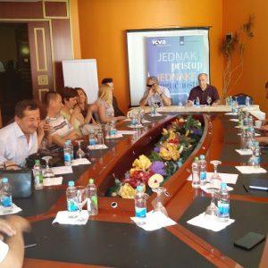 Sastanak/diskusija za pristupačnost medijskih sadržaja za osobe sa invaliditetom u Banja Luci 11.06.2019 Hotel Bosna